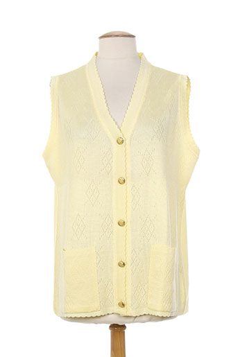 a belle by j.e creation gilets femme de couleur jaune