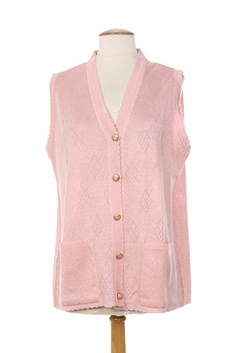 a belle by j.e creation gilets femme de couleur rose