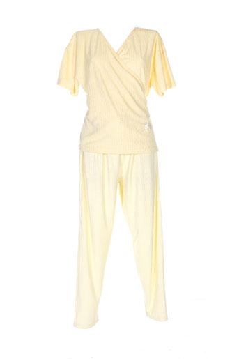 éliane nuit femme de couleur jaune
