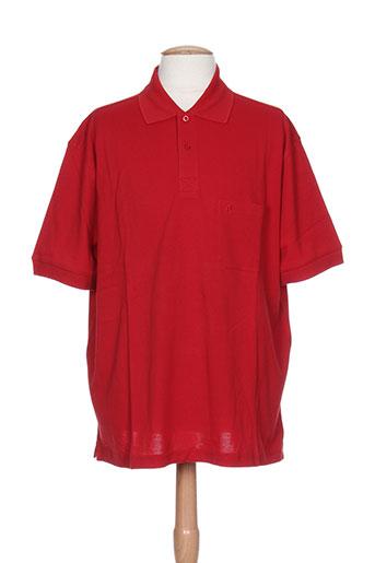 dusen t-shirts homme de couleur rouge