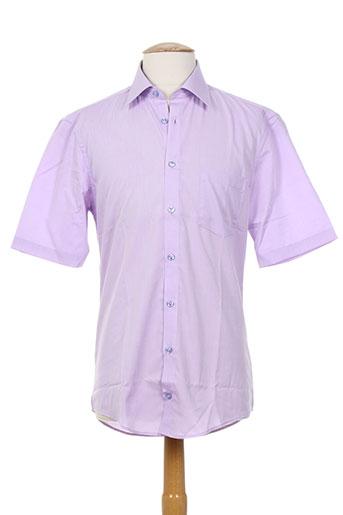 optimal chemises homme de couleur violet
