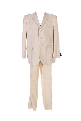 Veste/pantalon beige FRANCK ELISEE pour homme