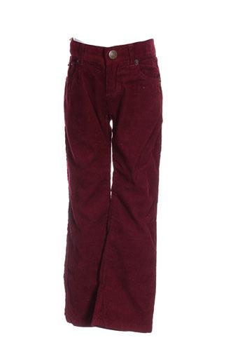 bonton pantalons enfant de couleur rouge