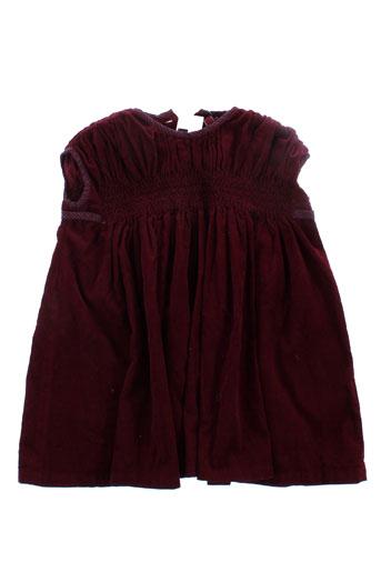 bonton robes fille de couleur rouge
