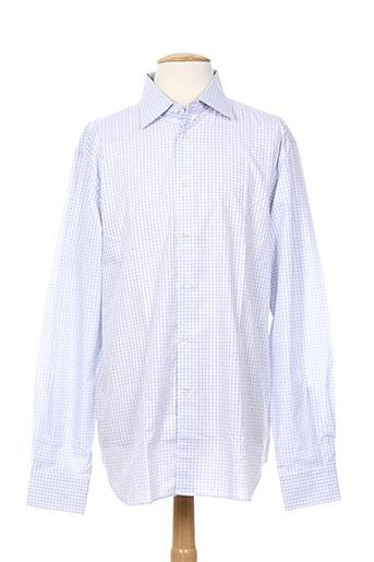 corneliani chemises homme de couleur bleu