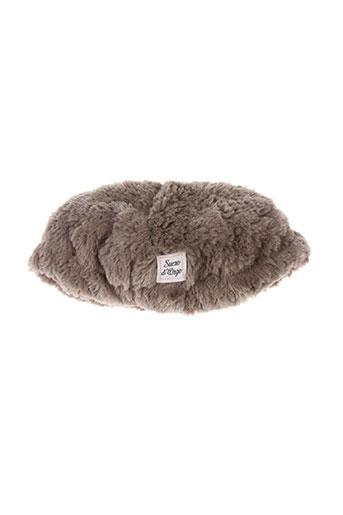 Bonnet gris SUCRE D'ORGE pour fille