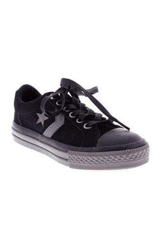 converse baskets garcon de couleur noir