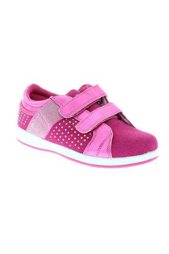 renda kids chaussures fille de couleur rose
