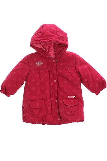 alphabet manteaux fille de couleur rouge