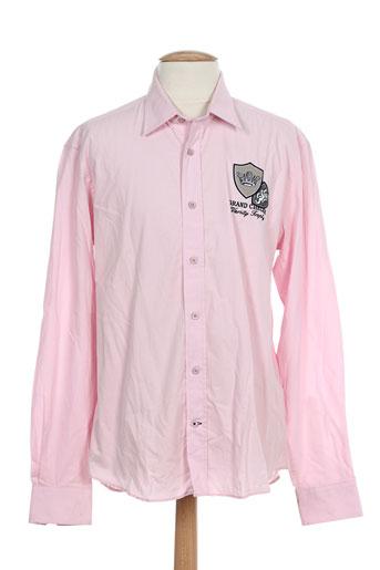 grand chelem chemises homme de couleur rose