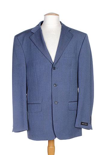 griffe noire vestes homme de couleur bleu