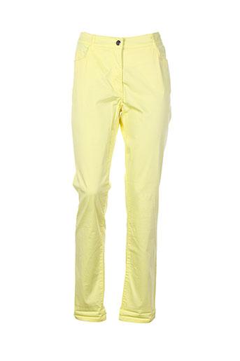 fleur et de et sel pantalons et decontractes femme de couleur jaune