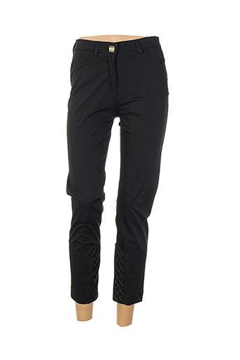 aquajeans pantalons femme de couleur noir