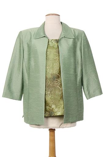 atian vestes femme de couleur vert