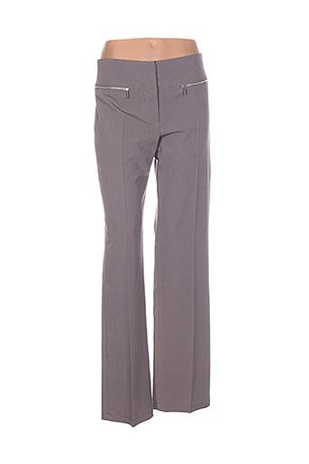 renatto bene pantalons femme de couleur gris