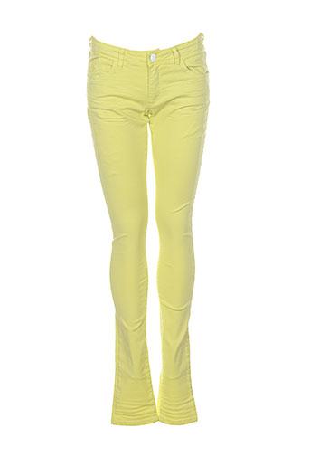 the et brian et and et nephew pantalons et decontractes fille de couleur jaune