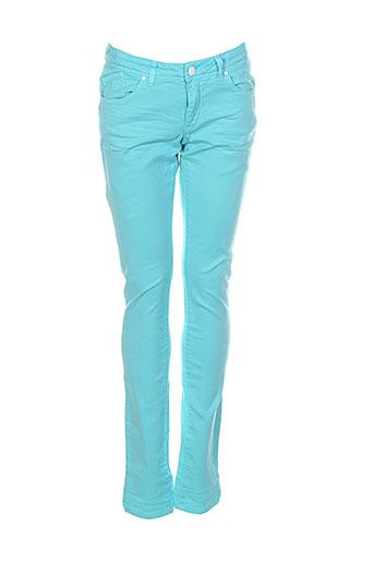 Pantalon casual bleu BRIAN & NEPHEW pour fille