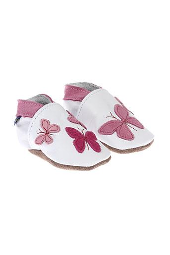 inch et blue chaussons fille de couleur rose