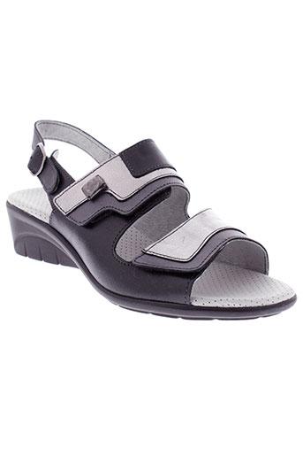arima sandales et nu et pieds femme de couleur noir