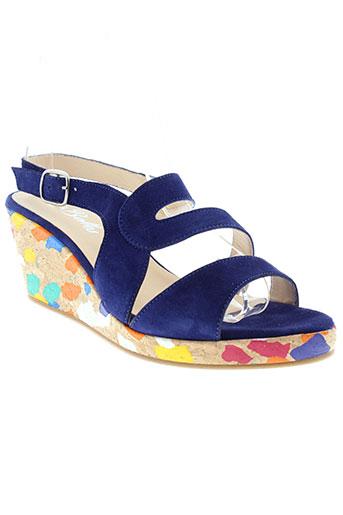 rebelles chaussures femme de couleur bleu