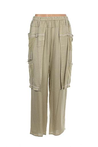 batistame pantalons femme de couleur beige