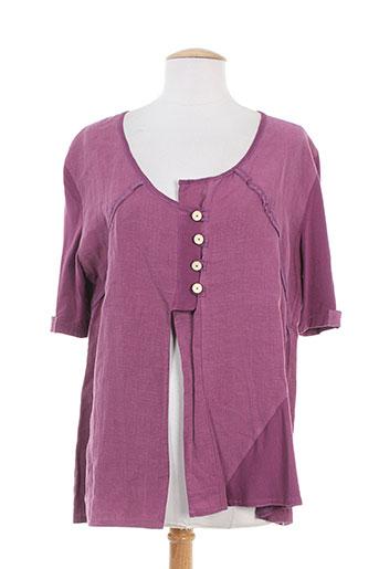 Veste casual violet CATY LESCA pour femme