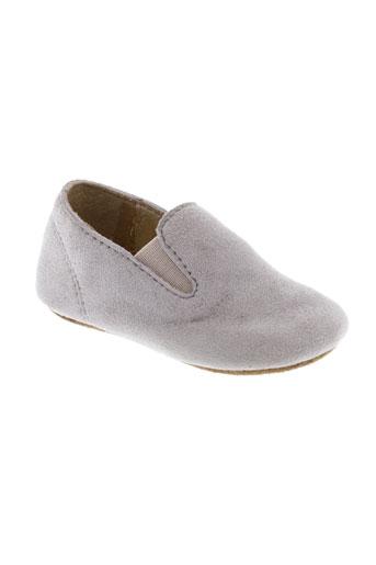 chupeta chaussons enfant de couleur gris
