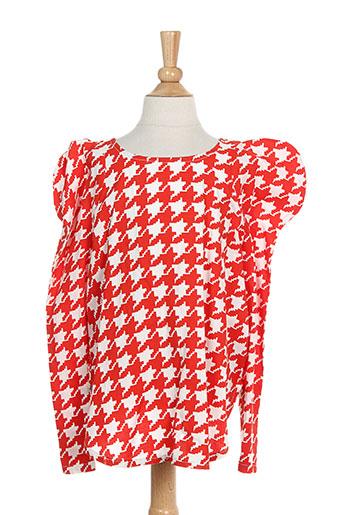 bodebo t-shirts fille de couleur rouge