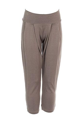 0+0=l'atelier des petits pantalons fille de couleur marron