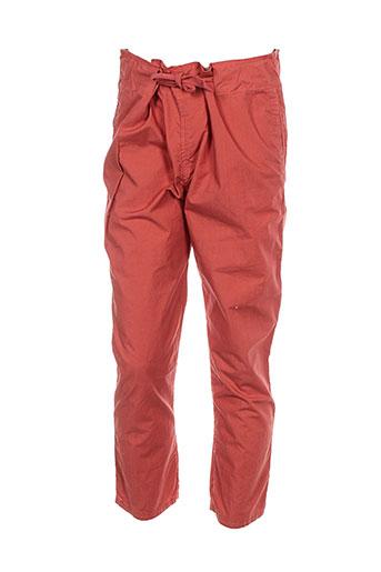 album di famiglia pantalons fille de couleur orange