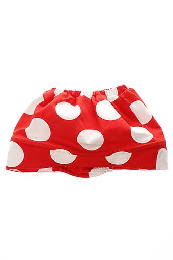 bodebo jupes fille de couleur rouge