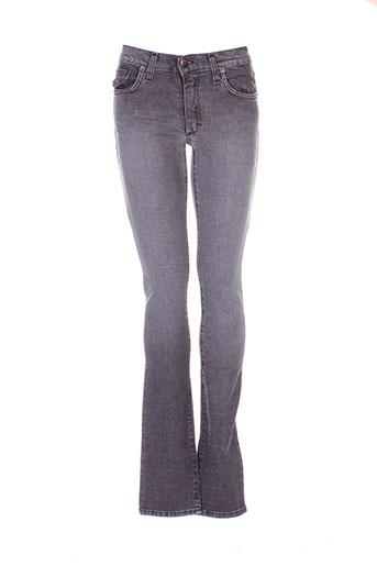 biscote jeans femme de couleur gris