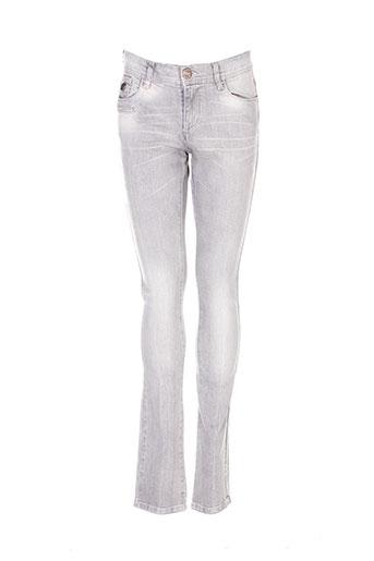 chipie jeans femme de couleur gris