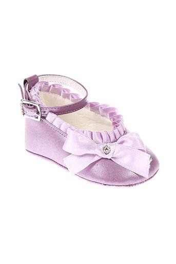 baby et chick chaussons fille de couleur violet
