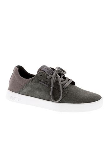 supra chaussures garçon de couleur gris