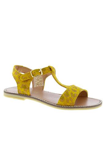 mellow et yellow sandales et nu et pieds fille de couleur jaune