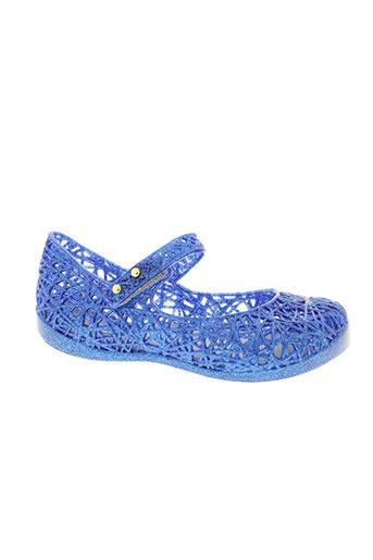 mini melissa chaussures fille de couleur bleu