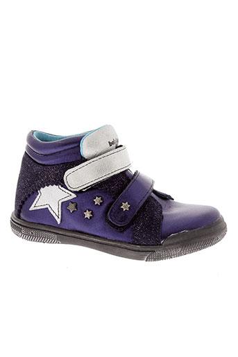 babybotte boots fille de couleur bleu
