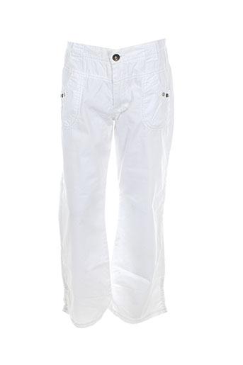confetti pantalons et decontractes fille de couleur blanc