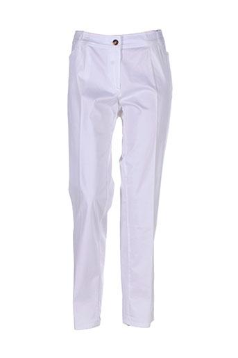 diambre pantalons femme de couleur beige
