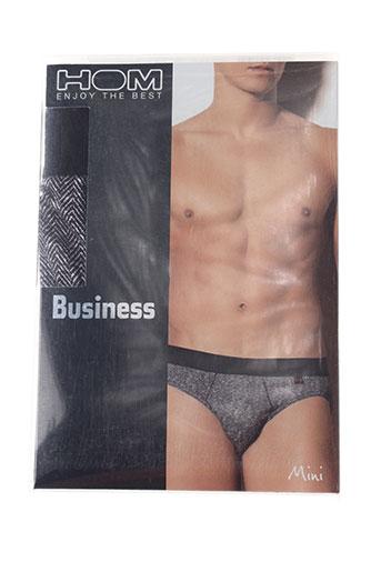 hom slips et culottes homme de couleur gris