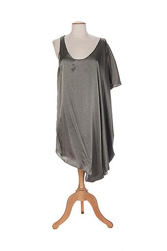 Robe mi-longue vert GESTUZ pour femme