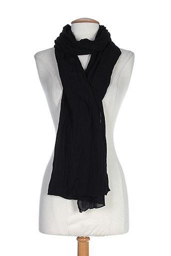 deha echarpes et gants femme de couleur noir