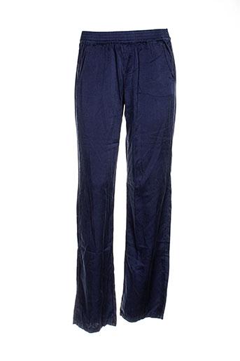 deha pantalons femme de couleur bleu