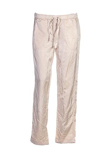 deha pantalons femme de couleur beige