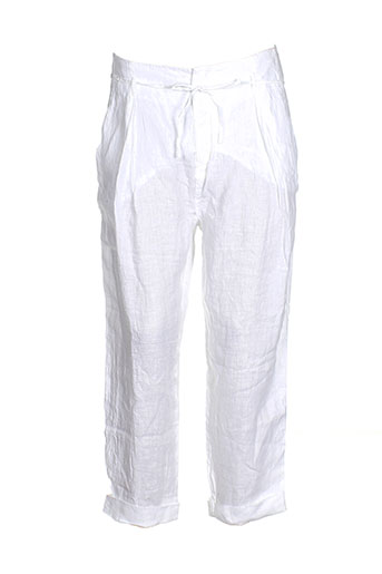 deha pantalons femme de couleur blanc