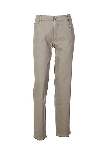 limited edition pantalons femme de couleur beige