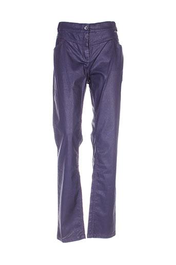 mae mahe pantalons femme de couleur bleu