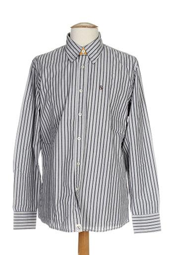 aigle chemises homme de couleur gris