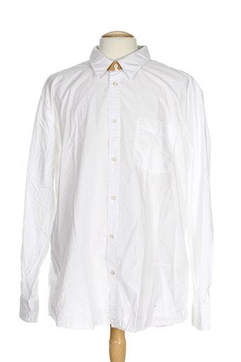 aigle chemises homme de couleur blanc